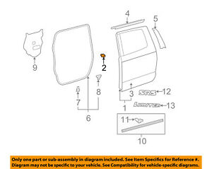 Toyota OEM Front Door Shell Bumper 90084-54012 Factory Sold Individually Various