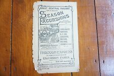 More details for 1910 great central railway handbill passenger timetable gcr sheffield victoria