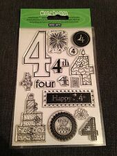 HERO ARTS CLEAR DESIGN STAMP SET - NUMBER 4 FOUR - 15 Stamps