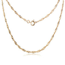 Womens Gold Plated Necklace Jewelry Wholesale Water Wave Chain Lady