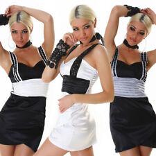 Sexy vestido de noche piedras cóctel-vestido mini satén minivestido fiesta vestido de fiesta nuevo