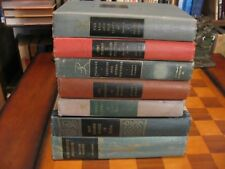 7 Book-Decor-Art-Vintage-Distressed-Props-Staging-Rustic-Red-Green-Library-Lot