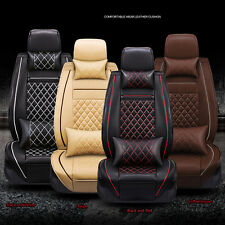 NEW Style Luxury Soft PU Leather Car Seat Covers Front Back Seat Cover Set