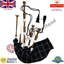 New Scottish Highland Bagpipe Brown Immation Mount Gordon Tartan Dudelsack Gaita