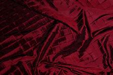 IRIDESCENT TAFFETA PINTUCK BURGUNDY DRESS TABLECLOTH DECOR  FABRIC BY THE YARD