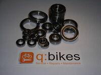 Mavic Wheel Hub Bearings Kits (Road & Mountain Bikes) Chrome & Stainless Steel
