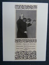 handmade music greetings card with  VIOLIN  -A-