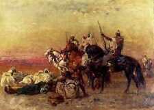 Henri EMILIEN ROUSSEAU la halte dans le désert d'impression A4