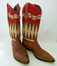 Seychelles Cowgirl Boots Womens Sz 9.5 Leather Tapestry Boho Southwest Design