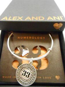 Alex and Ani Numerology Number 33 Bracelet Rafaelian Silver NWTBC