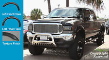 FENDER FLARES POCKET RIVET STYLE 99-07 F250 350 450 FORD ROUGH TEXTURED 4pc