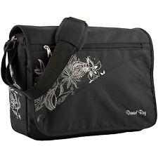 Daniel Ray Umhängetasche Schultertasche Schultasche Laptop Tasche Flower schwarz