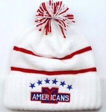 New York Americans CCM NHL Vintage Hockey Team Logo Pom Knit Hockey Hat Beanie