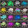 100pcs 18mm Christmas Snowflake Loose Sequins Paillettes Sewing Craft U pick #UK