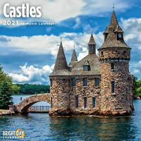 2021 Castles 12 x 12 Wall Calendar Photography Medieval Grand Majestic