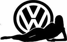 VW Girl Girl Sticker 150 mm x 95 mm Quality Stickers