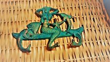 Cast Iron Nautical Mermaid Dolphin Towel, Coat or Hat Hook Key Rack