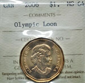 2006 Canada $1 Olympic Loon ICCS MS-64