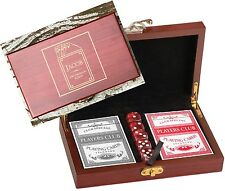 7 Personalized Card & Dice Sets Gift Groomsmen Best Man Custom Engraved Wood Box