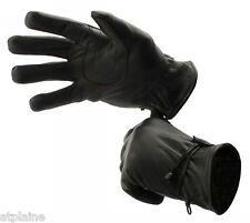 Gants moto cuir doublé INDIANA noir Taille XL