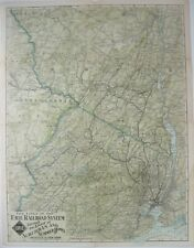 """Original 1912 ERIE RAILROAD Map """"Suburban and Summer Homes Adjacent to New York"""""""