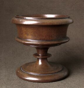 Circa 1840 Turned Walnut Salt Pot