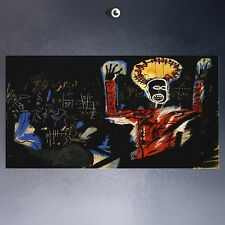 "Jean Michel Basquiat ""Profit-i"" HD print on canvas large wall picture 43x24"""