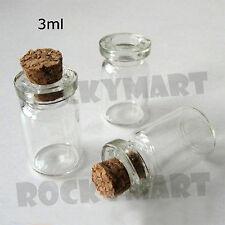3ML Vial W/ Cork Bottle Perfume Fragrance Potion Holder Sample Container RM2500