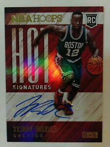Terry Rozier Rookie Card RC Auto 2015-16 NBA Hoops Hot Signatures