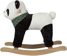ROCK MY BABY Wooden Rocking Horse Panda, Plush Stuffed Animal Rocker (NOB)
