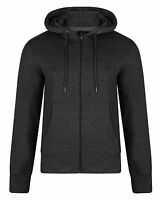 SMITH & JONES New Full Zip Hooded Sweatshirt Fleece Hoodie Hoody Charcoal Grey