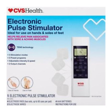 CVS Health Electronic Massager Pulse Muscle Stimulator Back Pain Therapy