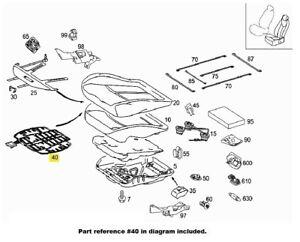 For Front Right Sensor Mat Seat Belt / SRS System Genuine For Mercedes W211 E320