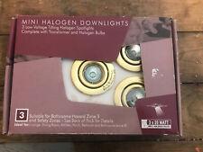 DOWNLIGHTS HALOGEN MINI 3 BY 20 WATTS LOW VOLTAGE LOUNGE DINING ROOM KITCHEN ETC