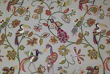 MILL CREEK FEATHERHEADS BERRY ABSTRACT BIRDS FLORAL OUTDOOR FABRIC BY THE YARD