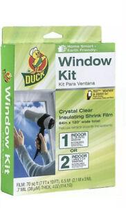 Duck Brand Indoor Extra Large Window/Patio Door Shrink Film Kit 84-Inch x 120