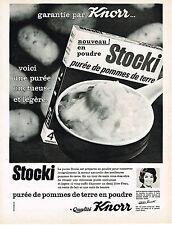 PUBLICITE ADVERTISING 084  1964  KNORR  la  purée de pommes  de terre STOCKI
