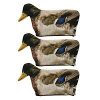 3 pcs Hunting Duck Decoy Cover 3D Realistic Flexible Pull Mallard Decoy Sock