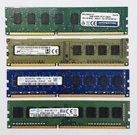 Desktop PC RAM ~~ 4GB DDR3 1600MHz ~~ PC3-12800U Memory 240pin DIMM Non-ECC