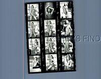 FOUND B&W PHOTO N+4474 MULTI SHOT OF PRETTY WOMAN IN DRESS