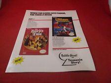 Official FCI Nintendo NES Promo Catalog Bard's Tale Ultima Dr. Chaos Zanac Lunar