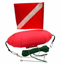 Spearfishing Inflatable Dive Flag Float with Fish Stringer and 33ft String