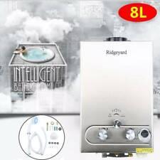 8L Hot Water Heater Propane Gas LPG On-Demand Tankless Water Heater Digital