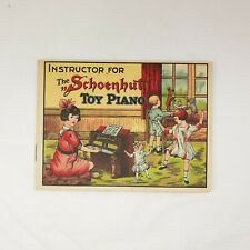 Antique 1920 Instructor for The Schoenhut Toy Piano & Other Toys and Dolls Ads