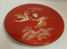 Vintage Lacquer ware Divided nut/sushi dish w/ lid Japan