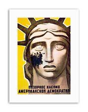 Diritti civili Unione Sovietica LIBERTY STATUA URSS poster tela politico art prints