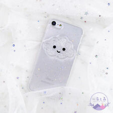 iPhone 11 Pro Max Cute Crystal Smile Cloud Soft Phone Case for iPhone XR Cover