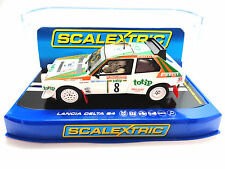 "Scalextric ""Totip"" Lancia Delta S4 DPR W/ Lights 1/32 Scale Slot Car C3638"
