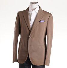 NWT $1175 BOGLIOLI Dark Tan Woven Cotton-Linen Sport Coat 40 R (Eu 50)