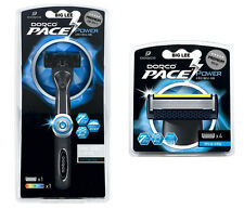 New Dorco Pace 7 Power 1 Razor + 4 Cartridges Total 5 Blades BRAND NEW SEALED